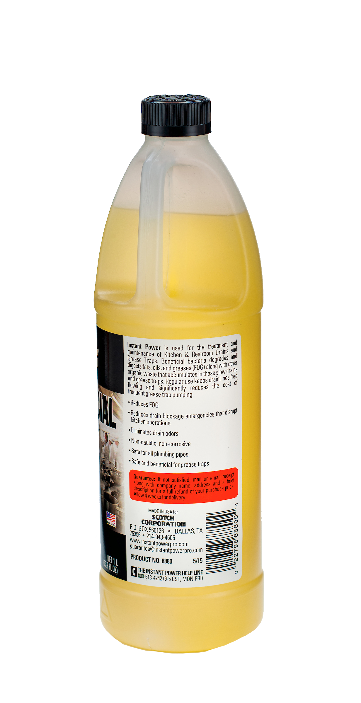 Commercial Drain Cleaner Instant Power Professional