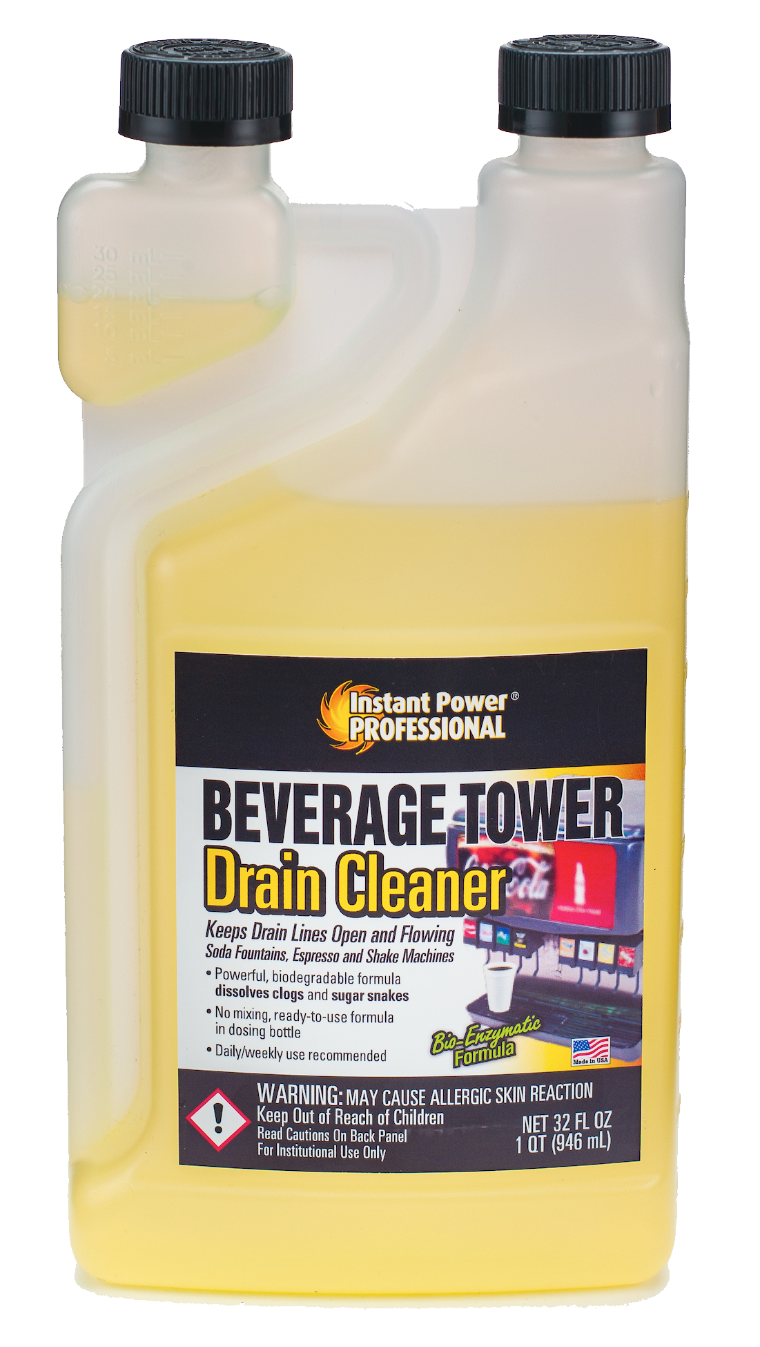 Beverage Tower Drain Cleaner Instant Power Professional